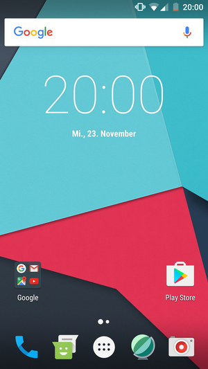 CyanogenMod - CyanogenMod 14 homescreen German