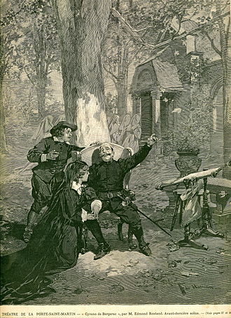 "Cyrano de Bergerac (play) -  The second-to-last scene. First performance of the play. Published in ""l'illustration"", 8 January 1898"