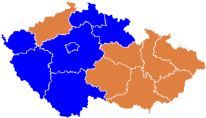 Czech parliament elections 2006 - region winners.svg