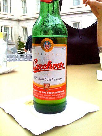 Budweiser trademark dispute - Image: Czechvar bottle