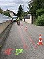 Découpe de la surface de la rue des Andrés pour déplacement d'un cable électrique (mai 2019).jpg