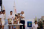 Dériveurs 18 pieds australiens au Salon Nautique International à Flot de La Rochelle 1987 (31).jpg