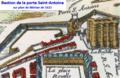 Détail du plan de Paris par Mérian (1615) montrant le bastion de la porte Saint-Antoine.png