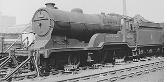 GCR Class 11F - GCR Class 11F 62690 (LNER D11/2 No. 6397) The Lady of the Lake at Haymarket MPD, Edinburgh, in 1958