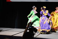 Dancing at the Wikimania 2015 Opening Ceremony IMG 7609.JPG