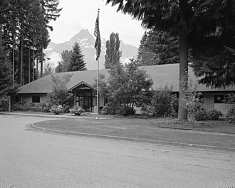 Darrington, Washington - The headquarters of the Darrington Ranger District, a unit of the Mount Baker-Snoqualmie National Forest