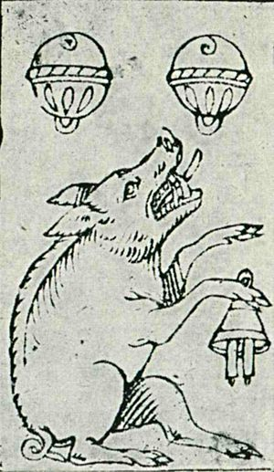 German playing cards - Sau deuce of bells, 1573