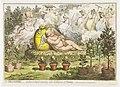 De Orangerie De Hollandse Cupido, uitrustend van de vermoeienissen van het planten, 1796 The Orangerie or the Dutch Cupid reposing, after the fatigues of Planting (titel op object), RP-P-1896-A-19118.jpg
