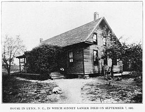 Sidney Lanier - The house in which Lanier died.