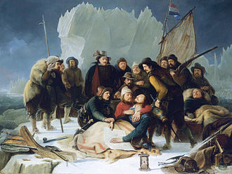 Willem Barentsz - The Death of Willem Barentsz (1836) by Christiaan Julius Lodewyck Portman