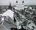 Debrecen, Piac utca, szemben a Református Nagytemplom. - Fortepan 95150.jpg
