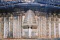 Decorative swirls on mantapa wall at Amruteshvara temple in Amruthapura, Chikkamagaluru district.JPG
