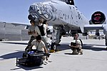 Defense.gov News Photo 120406-F-AX764-909 - A 455th Expeditionary Aircraft Maintenance Squadron crew repairs an A-10 Thunderbolt II at Bagram Airfield Afghanistan on April 6 2012. The 455th.jpg