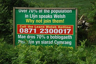 Sign promoting the learning of Welsh Defnyddiwch eich Cymraeg - Use your Welsh - geograph.org.uk - 488577.jpg