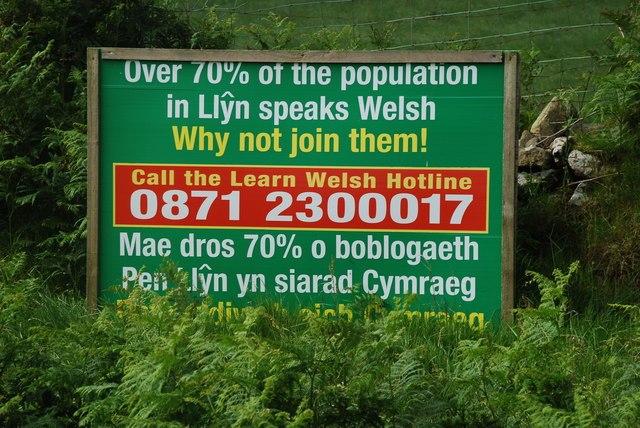 Defnyddiwch eich Cymraeg - Use your Welsh - geograph.org.uk - 488577