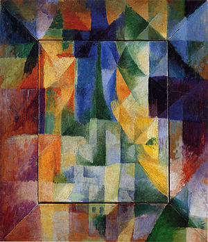 La prose du Transsibérien et de la Petite Jehanne de France - Simultaneous Windows on the City, 1912, by Robert Delaunay, Hamburger Kunsthalle