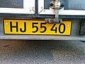 Denmark License Plates HJ 5540 yellow.jpg