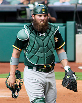 Derek Norris catcher in April 2014.jpg