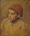 Desboutin M. - Oil on canvas - Enfant au bonnet rouge - 55x65cm.jpg