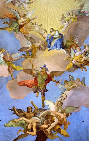 Detail of Glory of Virgin Mary by Daniel Gran - Annakirche2.jpg