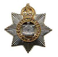 The badge of the Devonshire Regiment