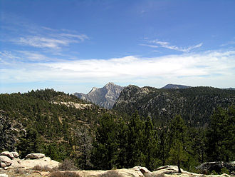 Baja California - Sierra de San Pedro Martir, with Picacho del Diablo in the center