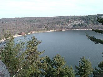 Devil's Lake State Park (Wisconsin) - Devil's Lake from the West Bluff