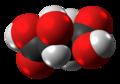 Dextro-Tartaric acid molecule spacefill from xtal.png