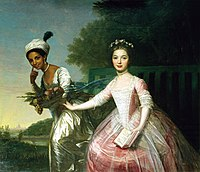 Painting of two young women