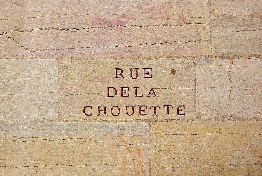 Rue de la Chouette, a famous street in Dijon.