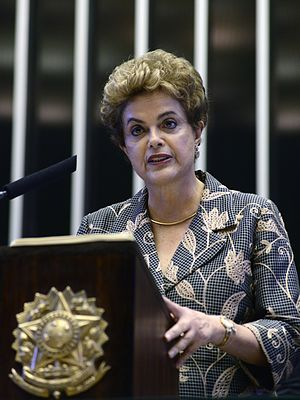 Impeachment of Dilma Rousseff - President Dilma Rousseff speaking before the Brazilian Congress in February 2016.