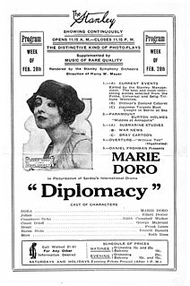 <i>Diplomacy</i> (1916 film) 1916 silent film drama directed by Sidney Olcott