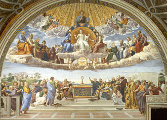 Role of Christianity in civilization - Disputa by Italian Renaissance artist Raphael