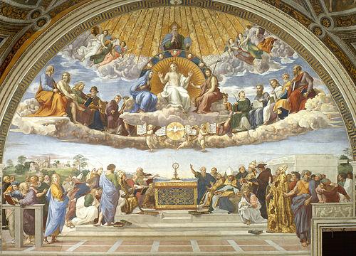 Risultati immagini per the disputation of the holy sacrament