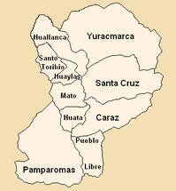 Districts of the Huaylas province in Ancash.png