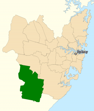 Division of Macarthur - Division of Macarthur in New South Wales, as of the 2016 federal election.