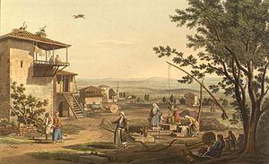 Larissa - Gravure of Larissa c.1820