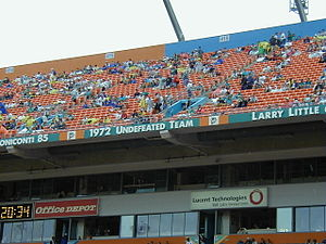 1972 Miami Dolphins season - The 1972 team on the Miami Dolphins Honor Roll