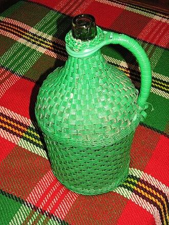 Carboy - A Bulgarian demijohn (damadzhana)