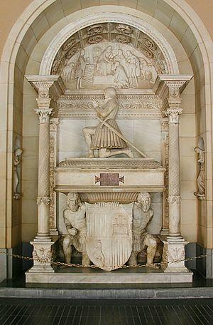 Juan de Aragón y de Jonqueras, 2nd count of Ribagorza - Tomb of Juan de Aragón y de Jonqueras inside de Monastery of Montserrat, Spain