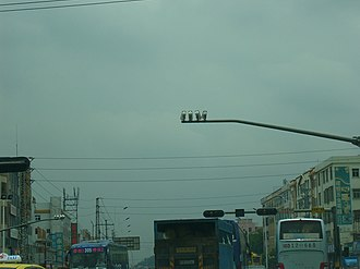 Traffic camera - Image: Dongguan Traffic Cameras