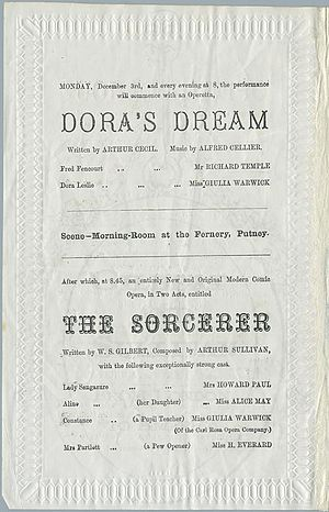 Dora's Dream - From 1877 programme