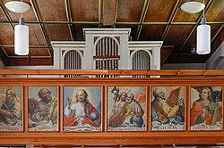 Dornstadt Scharenstetten Laurentiuskirche Empore und Orgelprospekt 2020 05 16.jpg
