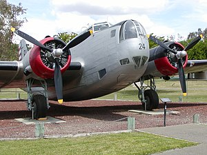 91st Air Refueling Squadron - B-18 on display at the Castle Air Museum