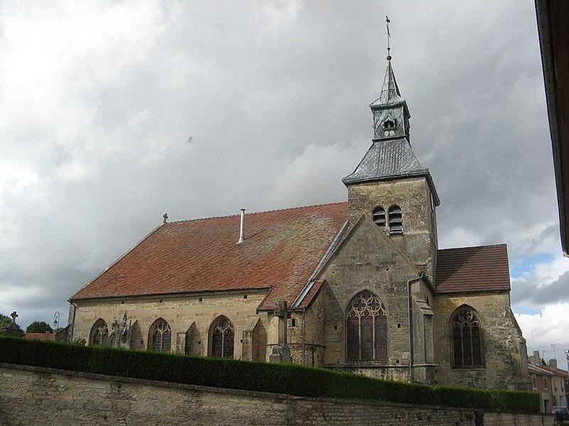 Doulevant-le-Château, église Saint-Louvent vue du sud.