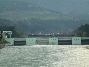 Dravograd - Hydroelectric power plant in Dravograd