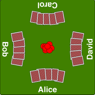 Five-card draw - Image: Draw poker table