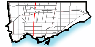 Dufferin Street Roadway in Ontario, Canada