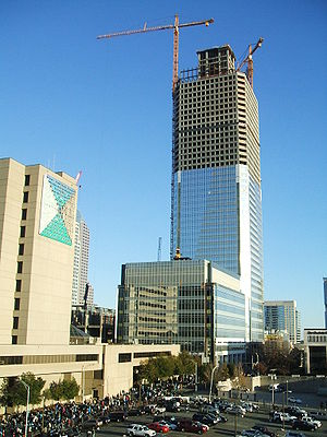 Duke Energy Center - Photo taken from Bank of America Stadium (Nov 2008).