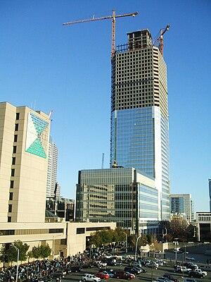 Duke Energy Center - Photo taken from Bank of America Stadium (Nov 2008).